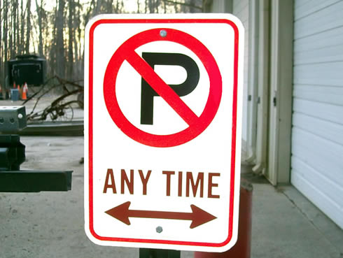 parking lot signs. of parking lot signs,